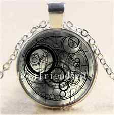 Doctor Who Time Lord Cabochon Glass Tibet Silver Chain Pendant  Necklace