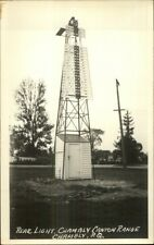 Chambly Quebec Canton Range Rear Lighthouse Real Photo Postcard
