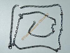 Chaine Collier 71 cm Maille Forçat Jaseron Rectangle Argenté Acier Inox 2.5 mm