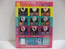 L.A. Colors Create-A-Nail Kit 50 PIECE SET 18 POLISHES TUTORIAL BOOKLET