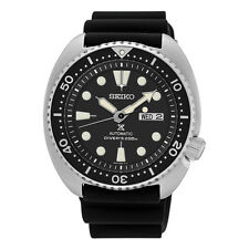 Seiko Mens SRP777 Turtle Black Rubber Strap Automatic Day/Date Watch