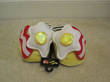 Slippers Fried Eggs Bacon size S Nom Nom bedroom shoes men womens new with tags