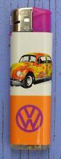 Briquet publicitaire Prof, VW hippie, fleurs, comme neuf, fonctionne très bien