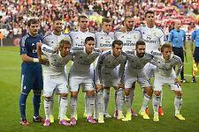 REAL MADRID FOOTBALL TEAM PHOTO 2014-15 SEASON