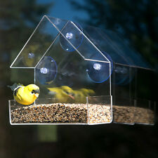 Evelots Clear Acrylic Window Bird Feeder, Large Strong All Weather Suction Cups