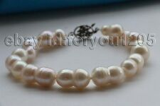 """8"""" Genuine Natural 19mm white Baroque Twins Pearl Bracelet #f2720!"""