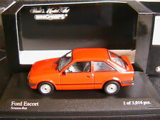 FORD ESCORT MKIII 1981 SONNEROT MINICHAMPS 400085000 1/43 RED ROSSO ROUGE ROT