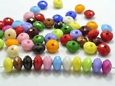 200 Mixed Bubblegum Gumball Color Acrylic Faceted Rondelle Beads 6X10mm
