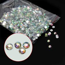 1000X Strass Faux Diamant Résine Décoration Talons Ongle Nail Manucure Art 3mm