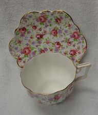 Salisbury Scalloped Rose Chintz  Cup and Saucer