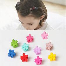 5X Small Cute Flower Hair Claw Clamp Hair Clip Pin Plastic Girl Hair Accessories