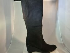 New Women's Blondo Lizeth Black Leather Waterproof wedge Boot in size 10M