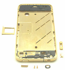 Apple iPhone 4 4g marco intermedio Marco intermedio Carcasa Middle frame Bezel oro nuevo