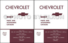 Camaro and Nova Chevy II Body Parts Book Illustrated 1969 1968 1967 1966 1965