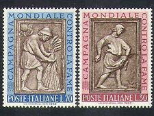 Italy 1963 FAO/Freedom/Hunger/Food/Wheat/Crops/Farming/Carving/Art 2v (n37401)