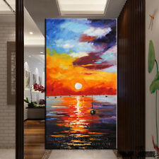 Abstract Hand-painted Canvas Art painting Decor Wall:Sunrise landscape(No Framd)