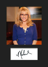 TBBT MELISSA RAUCH #2 A5 Signed Mounted Photo Print (RePrint) - FREE DELIVERY