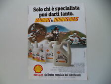 advertising Pubblicità 1981 SHELL e MOTO KTM / YAMAHA
