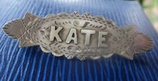 Vintage Victorian Sterling Silver Name Brooch h/m 1906 Chester - KATE