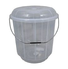25L Litre Plastic Bucket With Lid Carry Handle Large Storage Container Tub Caddy
