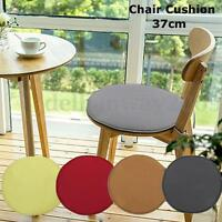 ROUND Bistro Office Home Chair Cushion SEAT PADS Kitchen Dining REMOVABLE cover