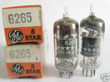 2 matched GE 5-Star 6265 (Special 6BH6) tubes @ 80, 82, min:50 (For Marantz 8B)
