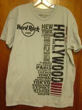HARD ROCK CAFE all locations T shirt rock n roll logo Since 1971 distressed tee