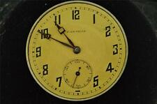 39MM SWISS GENERAL WATCH CO/PARADOX OPEN FACE POCKET WATCH MOVEMENT FOR REPAIRS