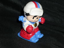 Fisher Price Little People Olympic Skiier Snow Ski Boy in Red White Blue