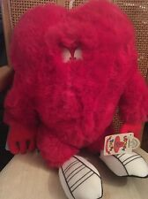 """14"""" Looney Tunes Furry Red Monster GOSSAMER Plush Doll Six Flags NWT NEW"""