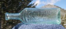 Excellent antique PLANTER'S Old Time REMEDIES w/ pic CUBAN COWBOY quack bottle