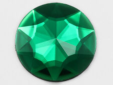 50mm Green Emerald Flat Back Round Acrylic Jewels Costume Rhinestone 4 Pieces