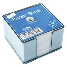 400 LOOSE SHEETS MEMO BLOCK PAPERS NOTE OFFICE JOTTER IN PLASTIC CUBE HOLDER NEW