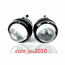 White Bull/Fish Eye Lens Car LED Spot Lights Super Bright Headlights Universal