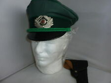 EAST GERMAN POLICE OFFICERS CAP/HAT WITH LEATHER PISTOL HOLDER