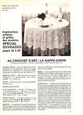 PATRON DE COUTURE Au crochet d'art : la nappe jupon