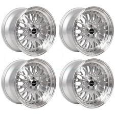 18x9.5 ARC AR1 5x100 35 Silver Wheel Rim set(4)