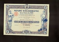 BIKE / BICYCLE RACING : Stade Velodrome de la Ville de Nice France 1926 TOP DECO