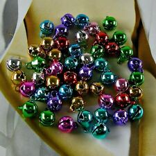 40 x Mix Colour Small Tiny Bells Charms Jewellery Making Finding for Christmas ""