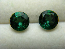 2 Teal blue Green Tourmaline Gems Brazil Natural gemstone Diamond Cut 1.63ct D33