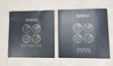 Lot of 2 Panerai  Manifattura Collection Watch Catalogs  2007 2008