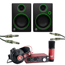 Focusrite Scarlett Studio Recording Package With Mackie CR3 Studio Monitors