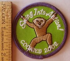 "Girl Scout 2002 COOKIE SALE PATCH ""Swing Into Action"" Tree Monkey Selling Badge"