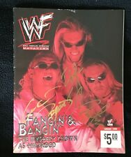 THE BROOD EDGE CHRISTIAN & GANGREL SIGNED WWE MAGAZINE