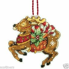 Reindeer Counted Cross Stitch Ornament Kit Dimensions Susan Winget