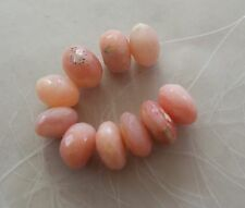 10 Peruvian Pink Opal Gemstone Large Chunky Faceted Rondelle Beads 10mm-11mm