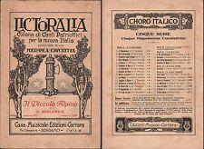 SPARTITI-LICTORALIA-COLLANA DI CANTI PATRIOTTICI PER LA NUOVA ITALIA-1931-L754