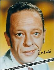 "DON KNOTTS NICE SIGNED EARLY COLOR 8x10 PHOTO ""THE ANDY GRIFFITH SHOW"""