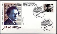 BRD 1992: Arthur Honegger! FDC der Nr. 1596 mit Berliner Sonderstempeln! 1A 1704