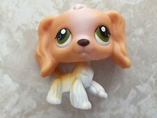 Littlest Pet Shop RARE Cocker Spaniel Dog Puppy #79 Tan Green Brown Hazel LPS